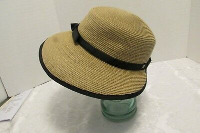 a3058a478 ERIC JAVITS NEW York SUN CREST Packable Sun Hat Visor Hybrid Adjustable  UPF50+