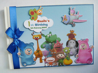 Personalised Baby Tv  All Characters Boy/girl Birthday Guest Book - Any Design