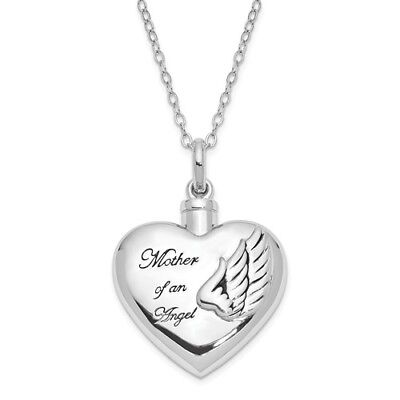 Sterling Silver W/ Rhodium-plated Mother of an Angel Ash Holder 18in. Necklace