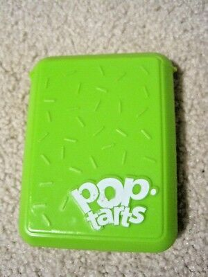 Green Kellogg's Pop Tarts Holder Case Container with Hinged Top Used