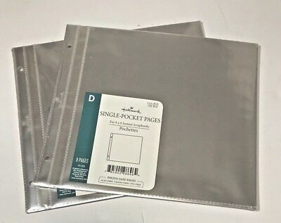 Hallmark Lot of 2 AR1908 Single Pocket 8x8 pages - 8 sheets each -NEW