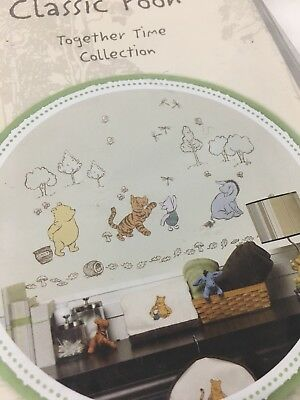 Classic Pooh Wall Decal Stickers Removable Tigger Piglet Eyeore Nursery Kid Room