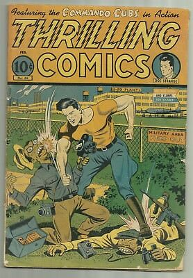 Thrilling Comics #46 Standard Comics 1945 Alex Schomburg Japanese Cover