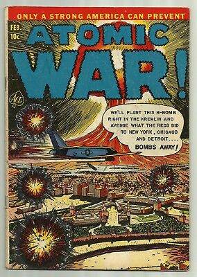 Atomic War! #3 Ace Magazines 1953 Atomic Explosion! Russian Attack! Solid Copy!