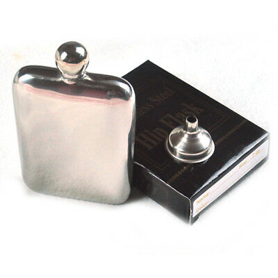 6oz Stainless Steel Hip Flask Pocket Liquor Whiskey Alcohol Bottle w/ Funnel Cup