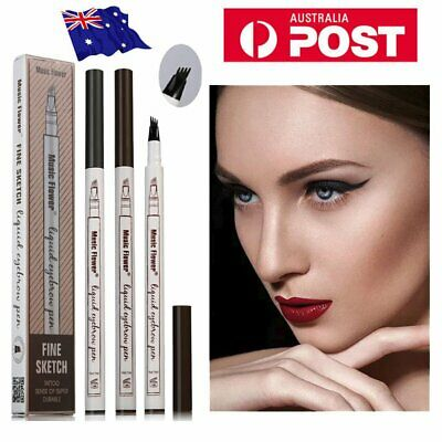 Eyebrow Tattoo Pen Waterproof Fork Tip Microblading Waterproof Makeup Sketch VF