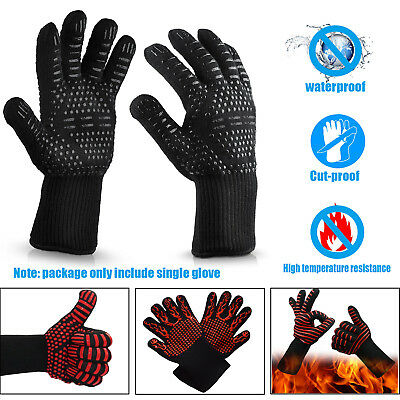 High Temperature Resistant Waterproof Cut-proof 500 Degree Insulated  Gloves BBQ
