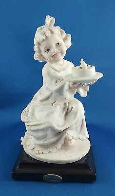 Giuseppe Armani Statue Figure Little Girl Sweet Wish First Birthday Florence