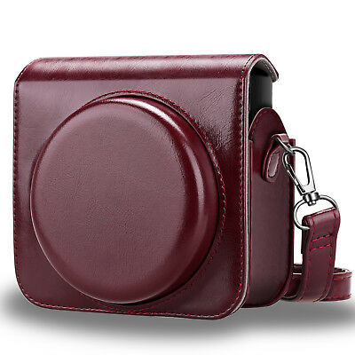 For Fujifilm Instax Square SQ6 Instant Film Camera Case Bag Cover - Burgundy