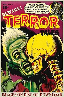 Print & Sell VINTAGE HORROR COMIC COVERS - Hi-Res Restored Images, Disc/Download
