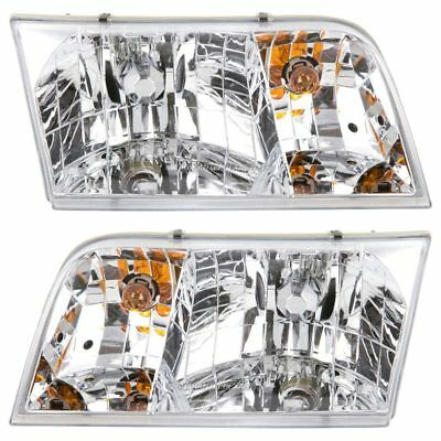For Ford Crown Victoria 1998-2008 Pair New Left Right Headlight Assembly