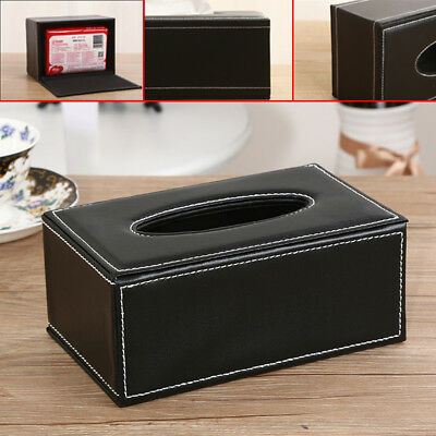 PU Leather Tissue Box Home Hotel Car Napkin Pumping paper Cover Case Holder New