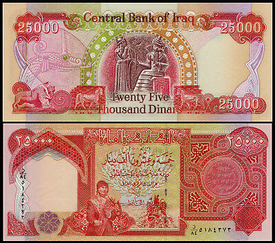 25,000 Iraqi Dinar Note Uncirculated!! 25000 New Certified Iqd!!