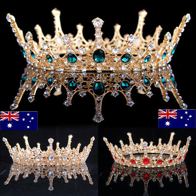 Wedding Bridal Silver Rhinestone Crown Queen Tiara Headpiece Headband Decoration