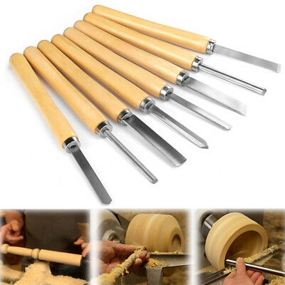 8 Wood Turning Lathe Chisels Woodturning Chisel Skew Tool Carving Parting Knives