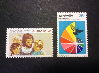 Australia 1972 Christmas  Issue Complete Set Of 2 Stamps Muh