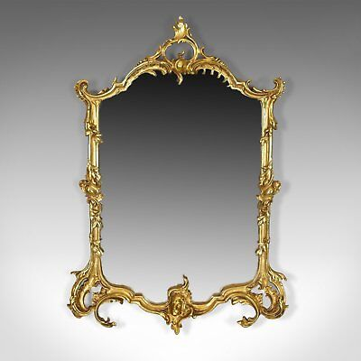 Vintage Wall Mirror, English, Rococo Revival Manner, 20th Century