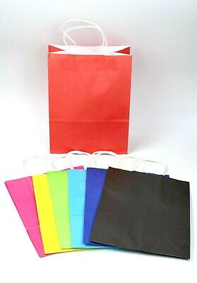 CHEAPEST 12 BIG 29*21*10cm Kraft Paper Party Bag Loot Gift Carrier Handle Event