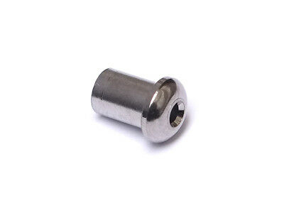 Top Mount String Ferrules • 5mm • Chrome (6)
