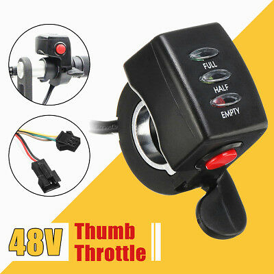 48V Thumb Throttle Speed Control Assembly LED Display For E-Bike Electric Bike