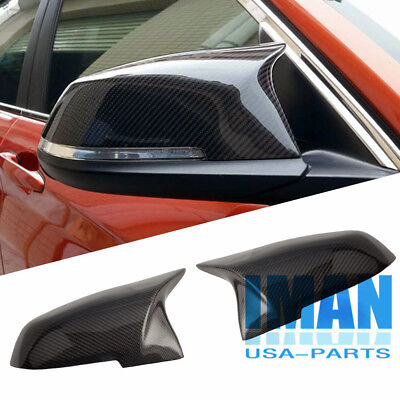 Pair Of M3 Style Mirror Covers Carbon Fiber Fit For Bmw F30 F32 13