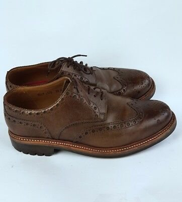 Grenson Mens Archie Brown Leather Brogues Commando Rubber Soles UK 12 G Wide (F)