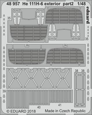 Eduard 1//48 scale masks for He 111H-6 kit by ICM EX598