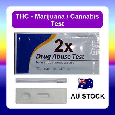 2 x Urine Drug Test Screen Testing Kit CASSETTE for THC (Marijuana) Cannabis