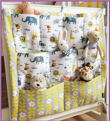 Baby Cot Pockets Storage Nappies Toys ***3 Designs***