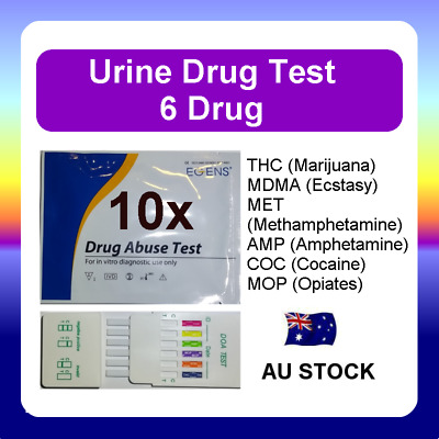 10x Urine Drug Test Screen Testing Kit THC (Marijuana) MET Amphetamines Ecstasy