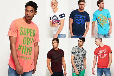 New Mens Superdry Tshirts Selection - Various Styles & Colours 2906