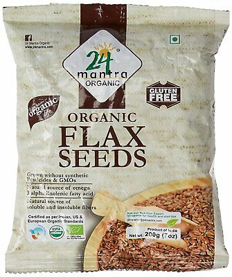 24 Mantra Organic Flax Seeds - Aldi Linseed (200 gm) Choose Your Pack