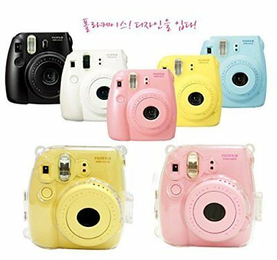 Instax Mini 8 Instant Camera Case for Fujifilm Clear Crystal Hard Protective