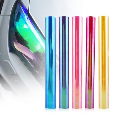 Blue Red Yellow Pink Car Headlight Taillight Fog Wrap Cover Vinyl Film Tint Cool