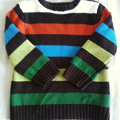 The Children's Place Boys Size 3T Striped Long Sleeve 100% Cotton Sweater