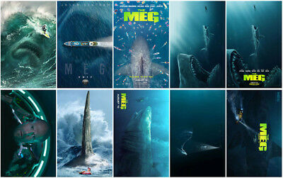 10pcs The Meg Movie 2018 Promo Card Sticker Card Poster Sticker Collector Poster