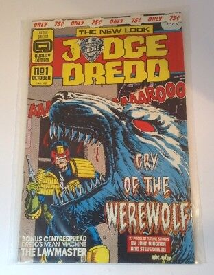 Judge Dredd Cry of the werewolf. No1 Oct 1980 The New Look Perfect Condition.