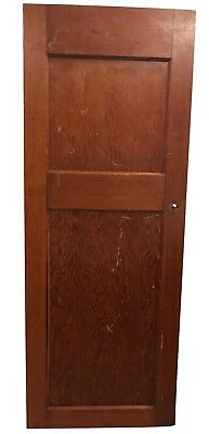 Antique Reclaimed Church Door Heavy Two Panel Architectural Salvage