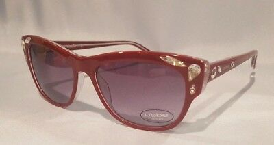 New Bebe Women's Sunglasses Ruby With Beads Bb7163