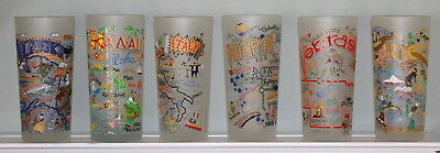 CATSTUDIO Geography Collection Frosted Glass Tumblers NEBRASKA