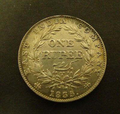 1835 b INDIA RUPEE  Silver   One Rupee   Foreign Coin