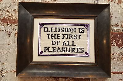 Cross Stitch Kit - Vintage Wall Sign - Illusion Is The First Of All Pleasures