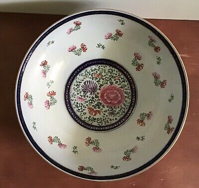 Vintage Japanese Gold Imari hand painted extra large porcelain bowl, 11 inches