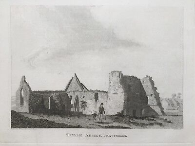 1792 Antique Print; Tulsk Abbey, Co. Roscommon by Grose / Cocking