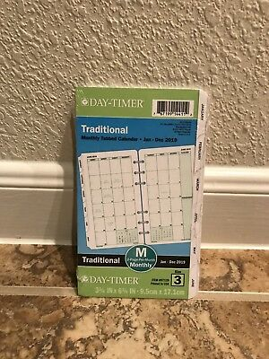 Day-Timer Planner Refill 2019 Size 3 Jan Dec Monthly Traditional White New Year