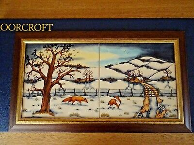 1St Quality Moorcroft Woodside Farm At Night Plaque 16.5 Inch Anji Davenport