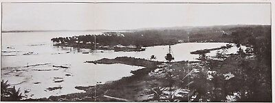1910 Toro Point Panama Canal Printed Photo Engineering Construction ORIGINAL