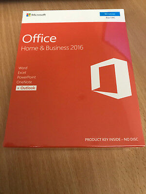 new sealed microsoft office 2016 home and business t5d. Black Bedroom Furniture Sets. Home Design Ideas