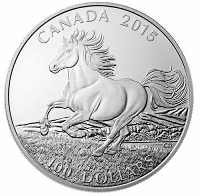 Canada 2015 $100 The Little Iron Horse 1oz .9999 Pure Silver Coin Proof