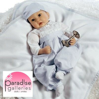Paradise Galleries Silicone Vinyl Baby Boy Doll, 22 inch Royal Baby Prince Doll